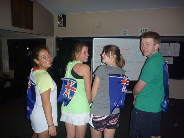 "Team New Zealand: Moana ""Moses"" Borland, Alice ""A-HOSS"" Hoskins, Amber ""Big AL"" Lewis, & Benny ""Good Man"" Lynch"